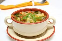 Суп на овощном бульоне при жировом гепатозе печени