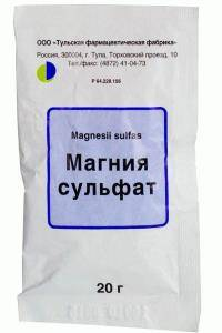 аптечный порошок магния сульфата