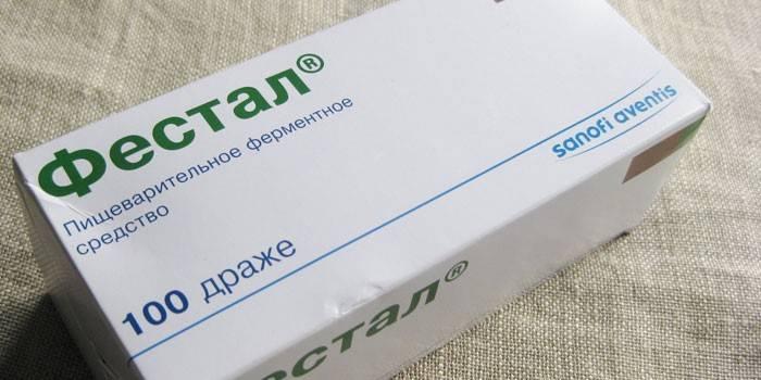 Таблетки Фестала в упаковке