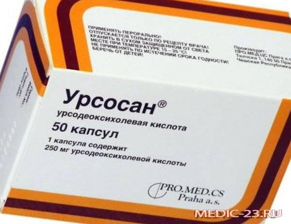 Упаковка препарата Урсосан