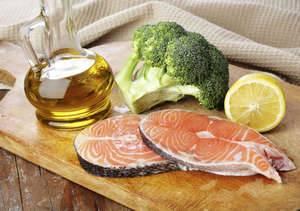 Рыба, брокколи, масло