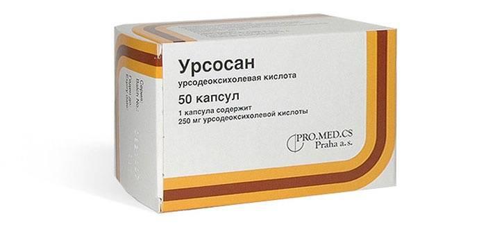 Таблетки Урсосан