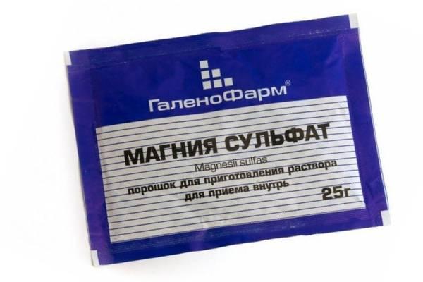 Чистка сульфатом магния