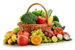 корзина с фруктами и овощами